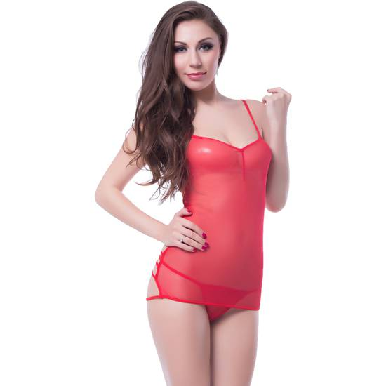 LIPS AND CHERRY BODY GABRIELA ROJO - Lenceria Sexy Femenina Bodys - Sex Shop ARTICULOS EROTICOS
