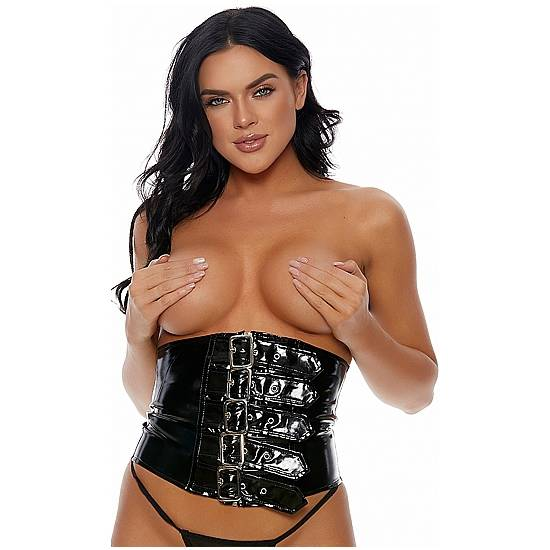 Stay Snatched Waist Cincher *Panty Not Included - Black - Lenceria Sexy Femenina Corse - Sex Shop ARTICULOS EROTICOS