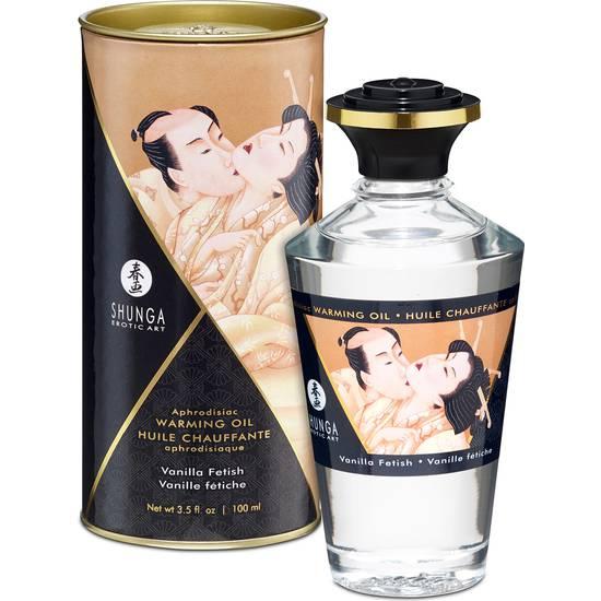 ACEITE EFECTO CALOR VAINILLA 100ML - Cosmética Erótica con sabores - Sex Shop ARTICULOS EROTICOS