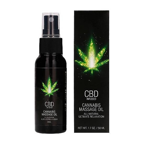 CBD CANNABIS ACEITE DE MASAJE - 50ML - Cosmética Erótica Cremas Masaje - Sex Shop ARTICULOS EROTICOS