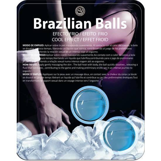 SET 2 BRAZILIAN BALLS EFECTO FRÍO - Cosmética Erótica con sabores - Sex Shop ARTICULOS EROTICOS