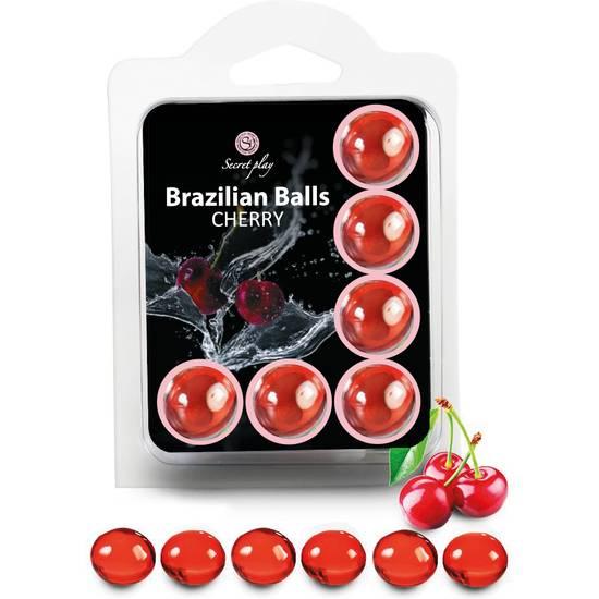 SET 6 BRAZILIAN BALLS CEREZA - Cosmética Erótica Varios - Sex Shop ARTICULOS EROTICOS