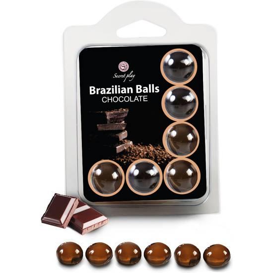 SET 6 BRAZILIAN BALLS CHOCOLATE - Cosmética Erótica Varios - Sex Shop ARTICULOS EROTICOS