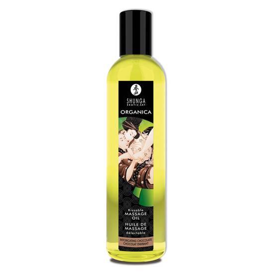 SHUNGA ACEITE DE MASAJE EROTICO CHOCOLATE - Cosmetica Erótica Aceites Aromáticos - Sex Shop ARTICULOS EROTICOS
