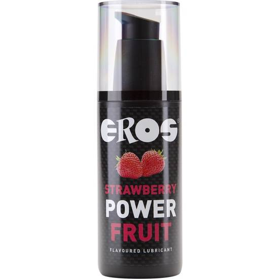 EROS FRESAS POWER FRUIT LUBRICANTE 125 ML - Cosmética Erótica con sabores - Sex Shop ARTICULOS EROTICOS
