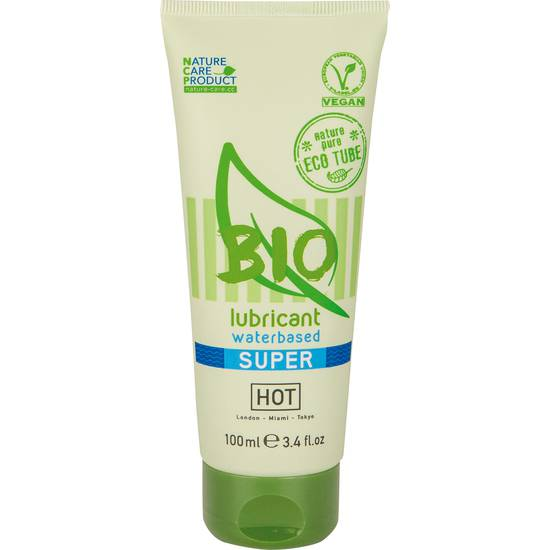 HOT BIO LUBRICANTE SUPER 100 ML - Cosmética Erótica con Base de Agua - Sex Shop ARTICULOS EROTICOS