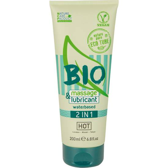 HOT BIO MASSAGE & LUBRICANT 2IN1 200ML - Cosmética Erótica Cremas Masaje - Sex Shop ARTICULOS EROTICOS