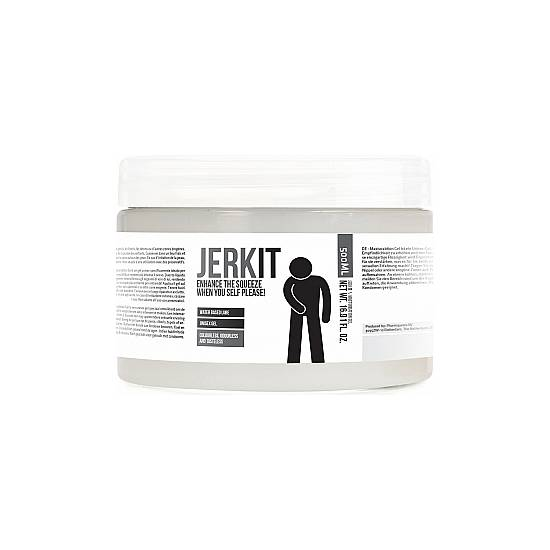JERK IT - ENHANCE THE SQUEEZE WHEN YOU SELF PLEASE - GEL ESTIMULANTE 500ML - Cosmética Erótica Cremas Vigorizantes - Sex Shop ARTICULOS EROTICOS