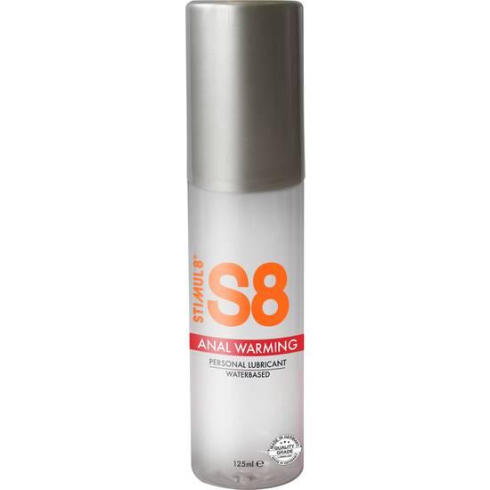 S8 LUBRICANTE ANAL BASE DE AGUA EFECTO CALOR 125ML - Lubricantes Anales Cosmetica Erótica - Sex Shop ARTICULOS EROTICOS