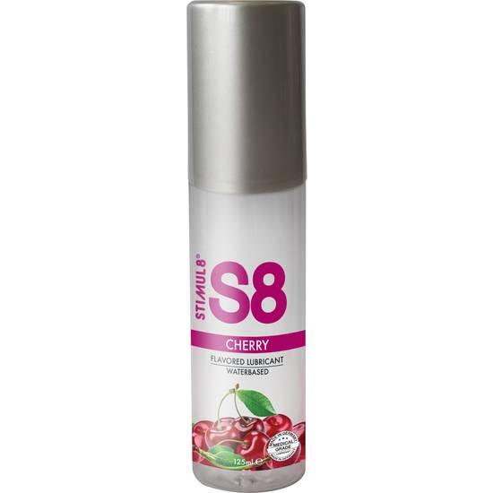 S8 LUBRICANTE SABORES 125ML - CEREZA - Cosmética Erótica con sabores - Sex Shop ARTICULOS EROTICOS