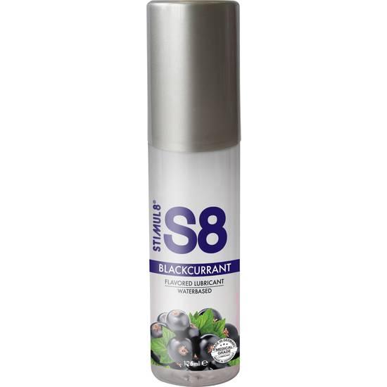 S8 LUBRICANTE SABORES 125ML - GROSELLA NEGRA - Cosmética Erótica con sabores - Sex Shop ARTICULOS EROTICOS