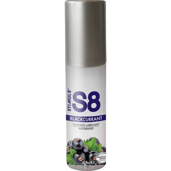 S8 LUBRICANTE SABORES 50ML - GROSELLA NEGRA - Cosmética Erótica con sabores - Sex Shop ARTICULOS EROTICOS