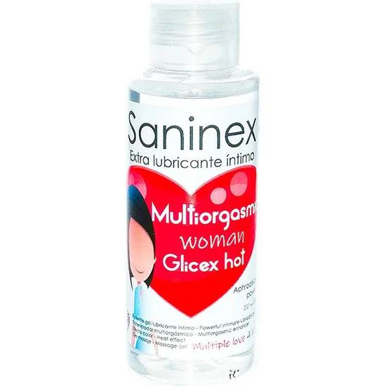 SANINEX GLICEX MULTIORGASMIC WOMAN HOT 4 IN 1 - 100ML - Cosmética Erótica Varios - Sex Shop ARTICULOS EROTICOS