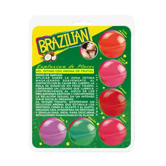 SECRET PLAY BRAZILIAN BALLS VARIADAS GEL INTIMO AROMA FRUTAS - Cosmetica Erótica Aceites Aromáticos - Sex Shop ARTICULOS EROTICOS