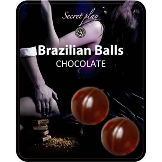 SECRET PLAY SET 2 BRAZILIAN BALLS AROMA CHOCOLATE - Cosmética Erótica Varios - Sex Shop ARTICULOS EROTICOS