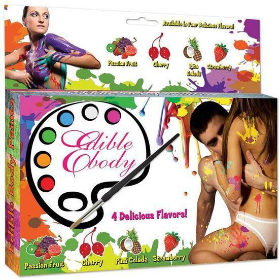 JUEGO DE 4 PINTURAS CORPORALES DE SABORES - Body Paint Cosmética Erótica - Sex Shop ARTICULOS EROTICOS