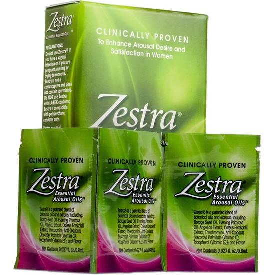 ZESTRA PACK DE 3 SOBRES DE 0,8ML - Cosmética Erótica Cremas Femeninas - Sex Shop ARTICULOS EROTICOS