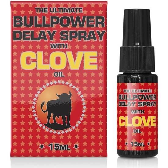 BULL POWER CLOVE SPRAY RETARDANTE (15ML) - Cosmética Erótica Cremas Retardantes - Sex Shop ARTICULOS EROTICOS