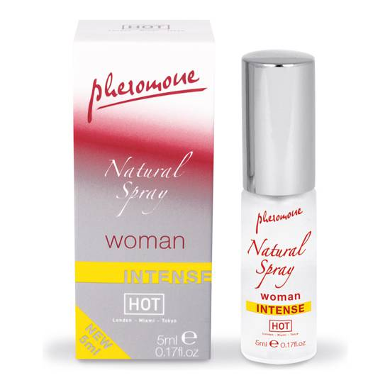HOT SPRAY DE FEROMONAS NATURAL  INTENSO PARA MUJERES 5 ML - Afrodisiácos Perfumes - Sex Shop ARTICULOS EROTICOS