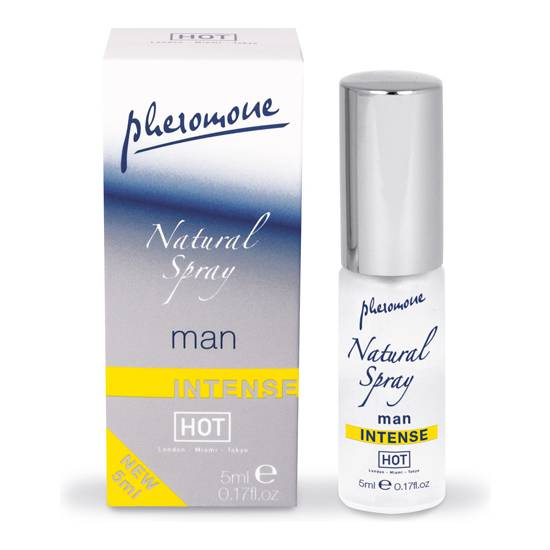 HOT SPRAY NATURAL DE FEROMONAS INTENSO PARA HOMBRES 5 ML - Afrodisiácos Perfumes - Sex Shop ARTICULOS EROTICOS