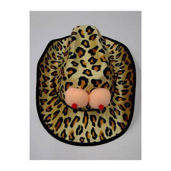 SOMBRERO COWBOY LEOPARDO TETAS | DIVERTIDOS ACCESORIOS | Sex Shop