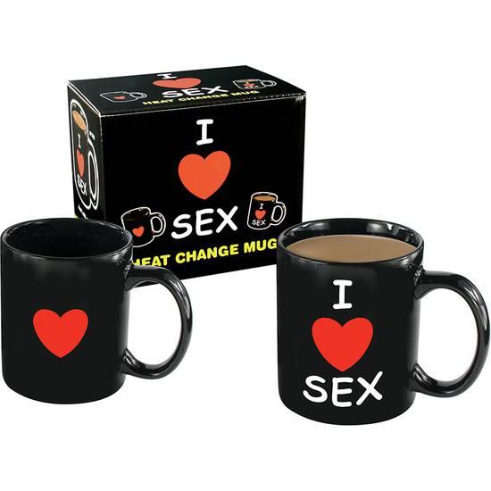 TAZA CON MENSAJE I LOVE SEX - Decoración Eróticas - Sex Shop ARTICULOS EROTICOS