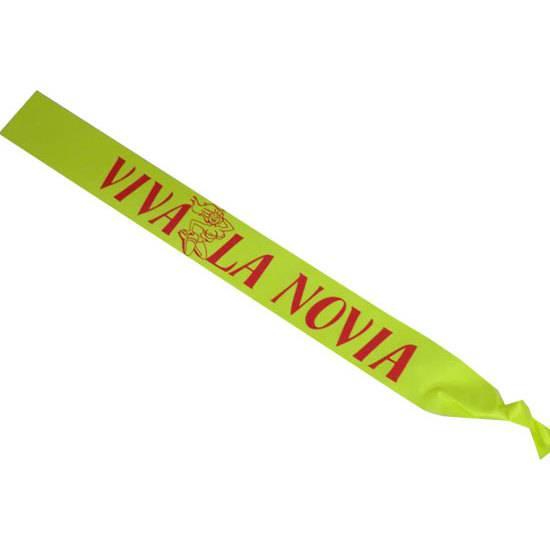 BANDA FLUOR VIVA LA NOVIA ROJO - Accesorios Disfraces Eróticos Despedidas - Sex Shop ARTICULOS EROTICOS