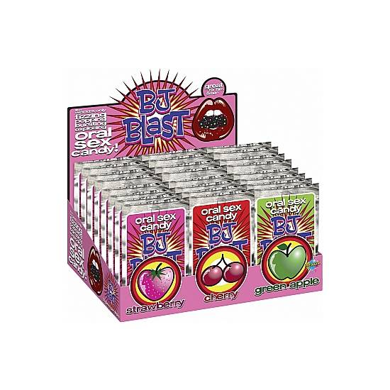 BJ BLAST CARAMELO SEXO ORAL SURTIDO DISPLAY 36 UDS - Decoración Eróticas - Sex Shop ARTICULOS EROTICOS