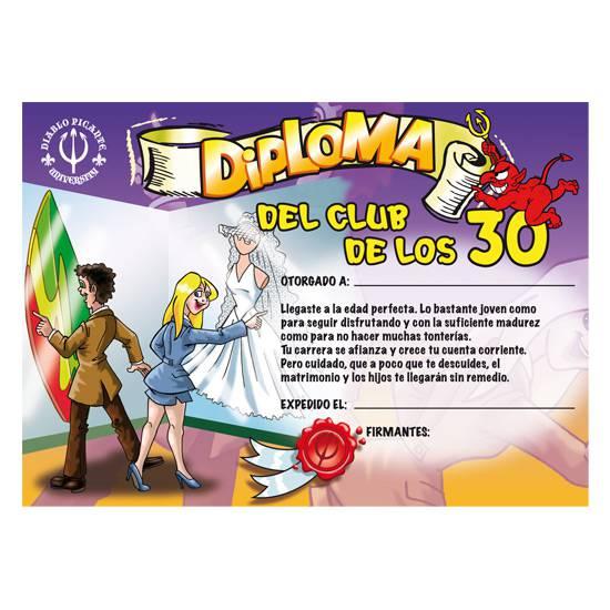 DIPLOMA 30 AÑOS - Decoración Eróticas - Sex Shop ARTICULOS EROTICOS