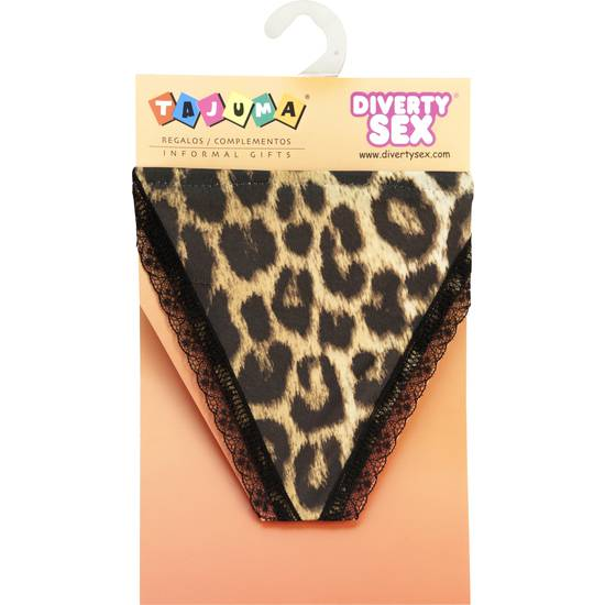 TANGA LEOPARDO CHICA | DIVERTIDOS TANGAS CON FRASES | Sex Shop
