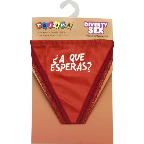 TANGA ROJO CHICA ¿A QUE ESPERAS? | DIVERTIDOS TANGAS CON FRASES | Sex Shop
