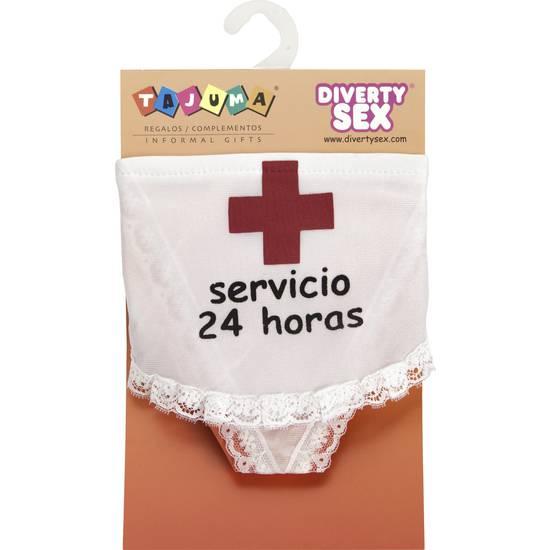 TANGA SERVICIO 24 HORAS | DIVERTIDOS TANGAS CON FRASES | Sex Shop