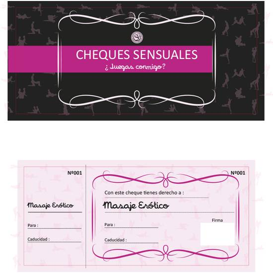 CHEQUES SENSUALES - Juegos en Grupo - Sex Shop ARTICULOS EROTICOS