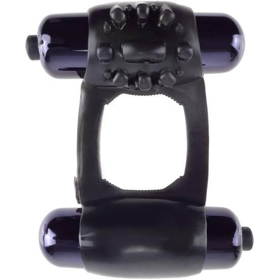 FANTASY C RING DUO VIBR SUPER RING NEGRO - Juguetes Sexuales Anillo Vibrador - Sex Shop ARTICULOS EROTICOS
