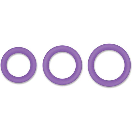 HALO 55MM KIT DE ANILLOS - MORADO - Juguetes Sexuales Anillo Kit - Sex Shop ARTICULOS EROTICOS