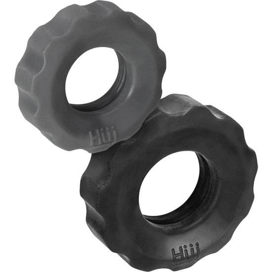 KIT ANILLOS COG 2-SIZE COCKRINGS - GRIS - Juguetes Sexuales Anillo Kit - Sex Shop ARTICULOS EROTICOS
