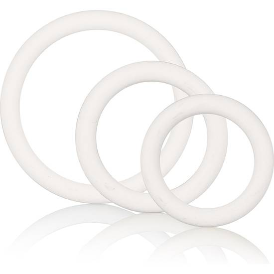 RUBBER RING BLANCO SET 3PCS - Juguetes Sexuales Anillo Kit - Sex Shop ARTICULOS EROTICOS