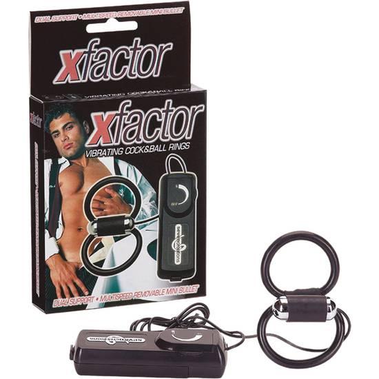 X-FACTOR DOBLE ANILLO VIBRADOR - Juguetes Sexuales Anillo Vibrador - Sex Shop ARTICULOS EROTICOS