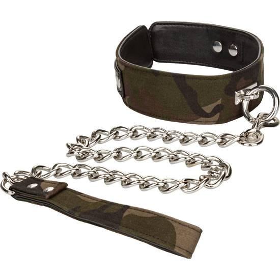 COLT COLLAR & LEASH CAMUFLAJE - BDSM Bondage Collares - Sex Shop ARTICULOS EROTICOS