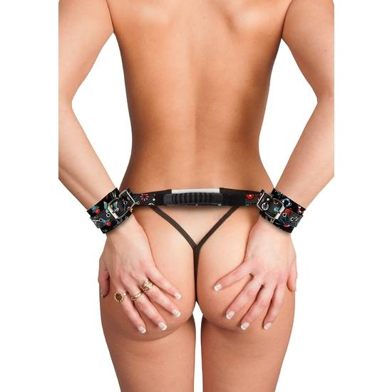 ESPOSAS CON ASAS ESTILO TATTOO  - NEGRO - Esposas BDSM Bondage - Sex Shop ARTICULOS EROTICOS
