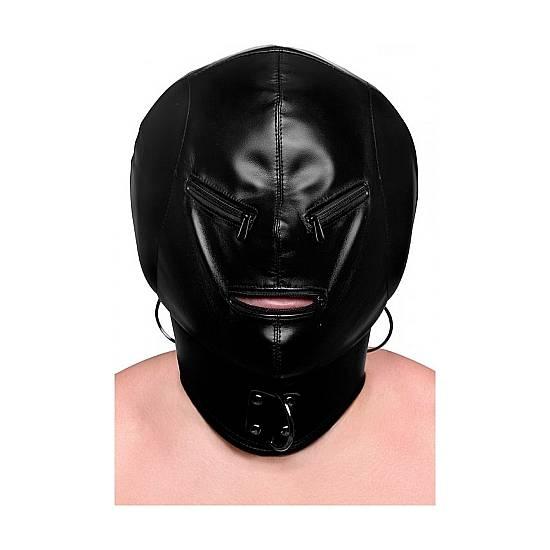 HOOD MASk - MÁSCARA EXTREME CON CREMALLERAS - Máscaras BDSM Bondage - Sex Shop ARTICULOS EROTICOS