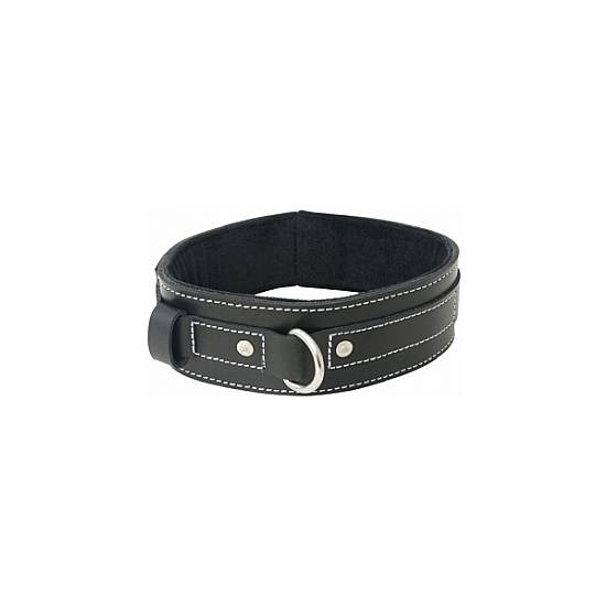 LINED LEATHER COLLAR - BDSM Bondage Collares - Sex Shop ARTICULOS EROTICOS