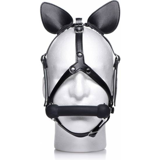 MASCARA CABALLO HARNESS WITH SILICONA - NEGRO - Máscaras BDSM Bondage - Sex Shop ARTICULOS EROTICOS
