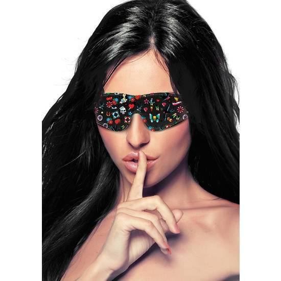 MASCARA ESTILO TATTOO - NEGRO - Máscaras BDSM Bondage - Sex Shop ARTICULOS EROTICOS