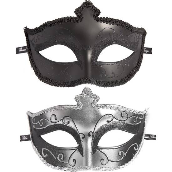 MASKS ON MASQUERADE PACK DE 2 UDS - NEGRO/PLATA - Máscaras BDSM Bondage - Sex Shop ARTICULOS EROTICOS