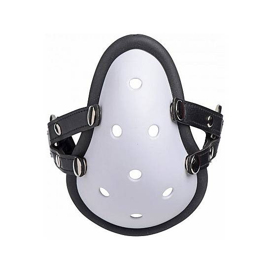 MUSK ATHLETIC MÁSCARA EXTREME CORREAS EXTRAÍBLES - BLANCO - Máscaras BDSM Bondage - Sex Shop ARTICULOS EROTICOS