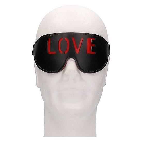OUCH! MÁSCARA - LOVE - NEGRO - Máscaras BDSM Bondage - Sex Shop ARTICULOS EROTICOS