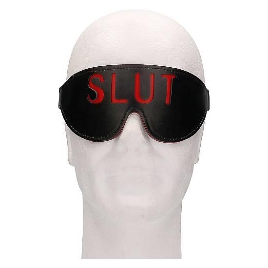 OUCH! MÁSCARA - SLUT - NEGRO - Máscaras BDSM Bondage - Sex Shop ARTICULOS EROTICOS