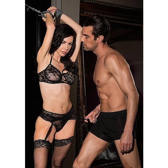 SET DE RESTRICCIÓN NEGRO - BDSM Bondage Accesorios Mobiliarios - Sex Shop ARTICULOS EROTICOS