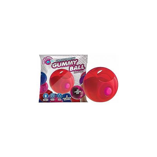 GUMMY BALLS BOLA VIBRADORA - ROJO - Juguetes Sexuales Huevos Vibradores - Sex Shop ARTICULOS EROTICOS